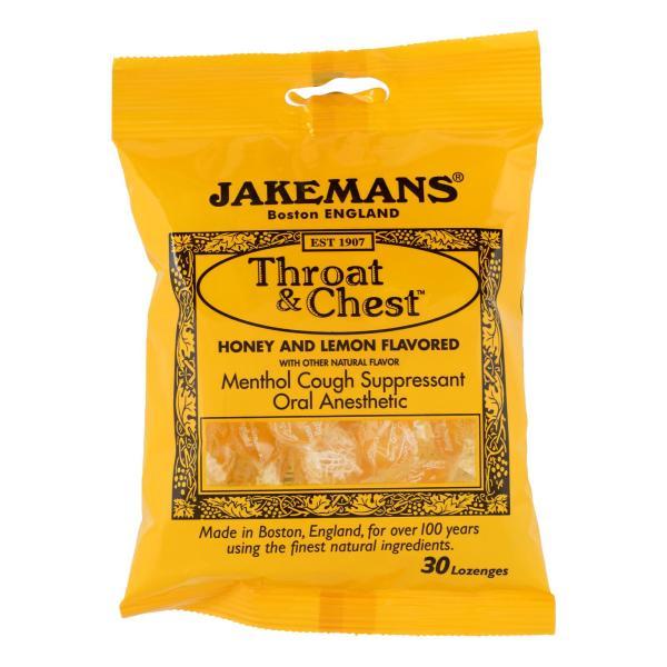 Jakemans Throat and Chest Lozenges - Honey and Lemon - Case of 12 - 30 Pack %count(alt)