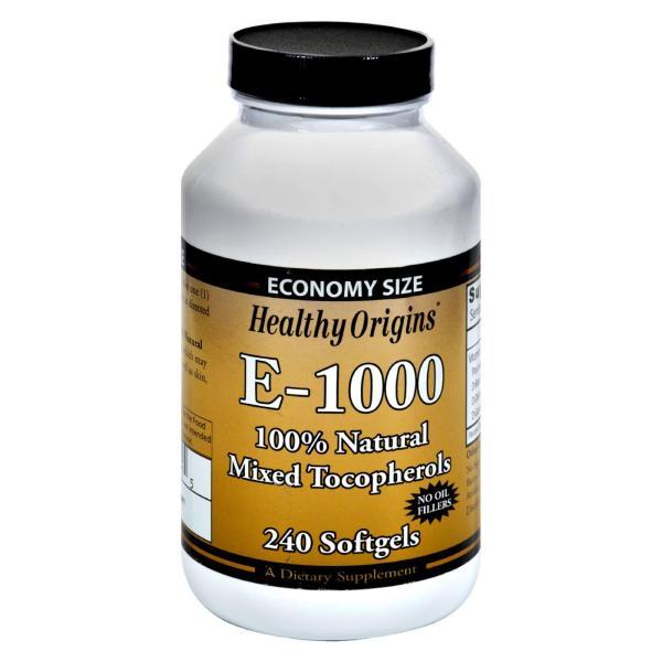 Healthy Origins E-1000 - 1000 IU - 240 Softgels %count(alt)