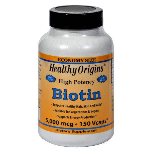 Healthy Origins Biotin - 5000 mcg - 150 Vcaps %count(alt)