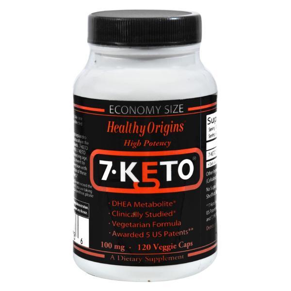 Healthy Origins 7-Keto DHEA Metabolite - 100 mg - 120 Vegetarian Capsules %count(alt)