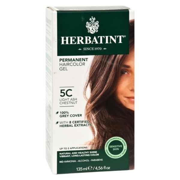 Herbatint Permanent Herbal Haircolour Gel 5C Light Ash Chestnut - 135 ml %count(alt)