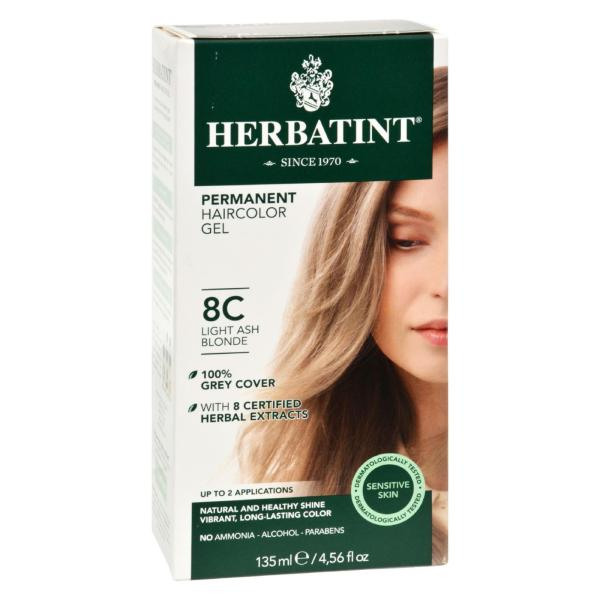 Herbatint Permanent Herbal Haircolour Gel 8C Light Ash Blonde - 135 ml %count(alt)