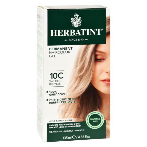 Herbatint Haircolor Kit Ash Swedish Blonde 10C - 1 Kit %count(alt)