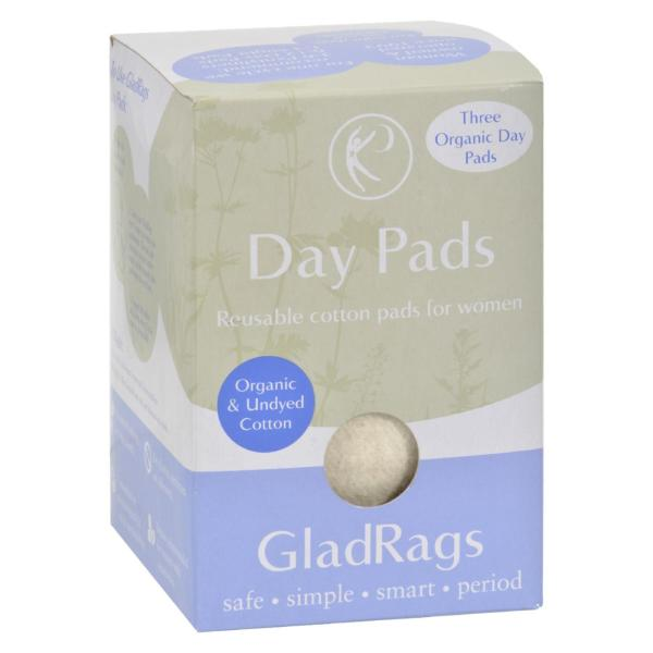 Gladrags Organic Undyed Day Pads - 3 Pack %count(alt)