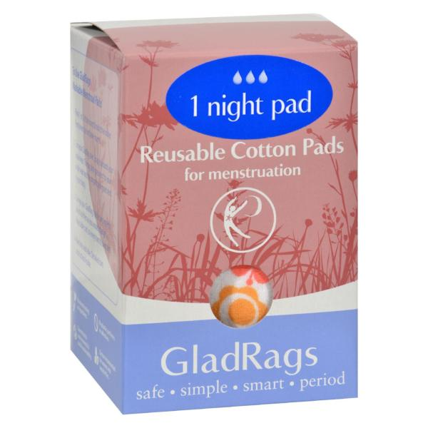 Gladrags Color Night Time Pads - 1 Pack %count(alt)