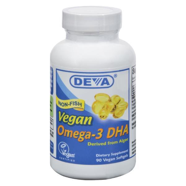 Deva Vegan Vitamins - Omega-3 DHA - 90 Vegan Softgels %count(alt)
