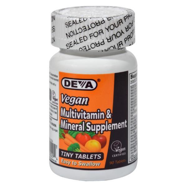 Deva Vegan Vitamins - Multivitamin and Mineral Supplement - 90 Tiny Tablets %count(alt)