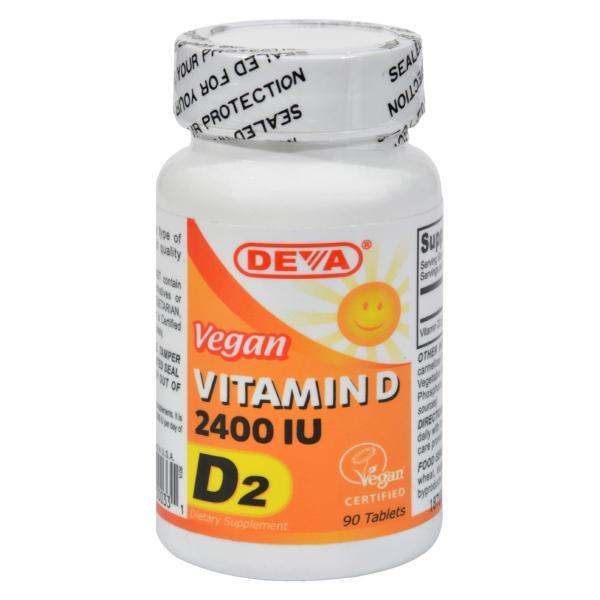 Deva Vegan Vitamins - Vitamin D - 2400 IU - 90 Tablets %count(alt)