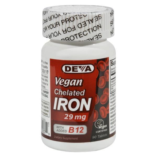 Deva Vegan Vitamins - Chelated Iron - 29 mg - 90 Tablets %count(alt)