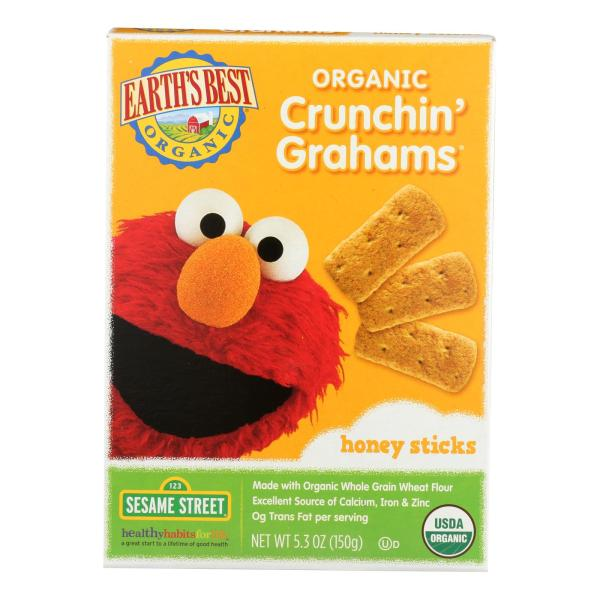 Earth's Best Organic Crunchin' Grahams Honey Sticks - Case of 6 - 5.3 oz. %count(alt)