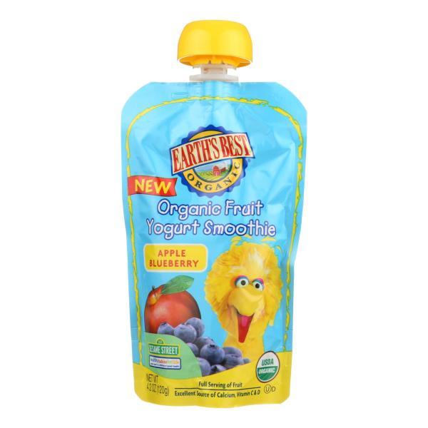 Earth's Best Organic Fruit Yogurt Smoothie - Apple Blueberry - Case of 12 - 4.2 oz. %count(alt)