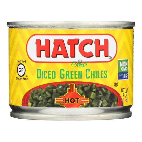 Hatch Chili Hatch Diced Hot green Chilies - Diced Green Chiles - Case of 24 - 4 oz. %count(alt)