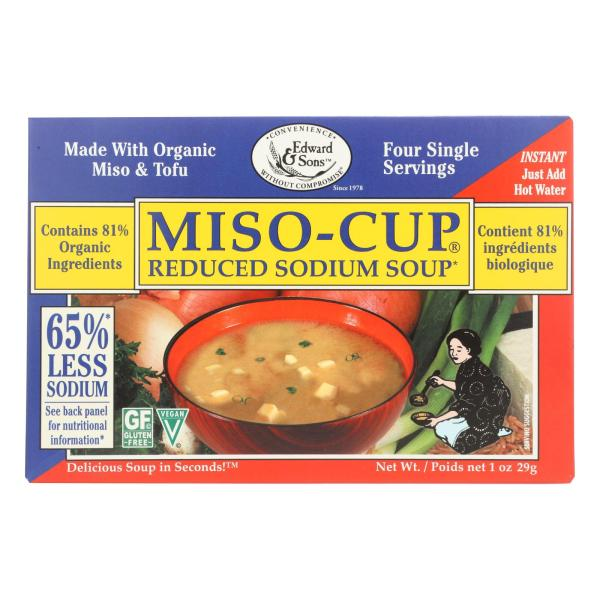 Edward and Sons Reduced Sodium Miso - Cup - Case of 12 - 1 oz. %count(alt)