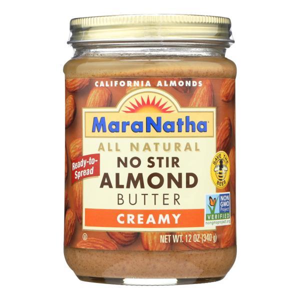 Maranatha Natural Foods Almond Butter - Creamy No Stir - Case of 6 - 12 oz %count(alt)
