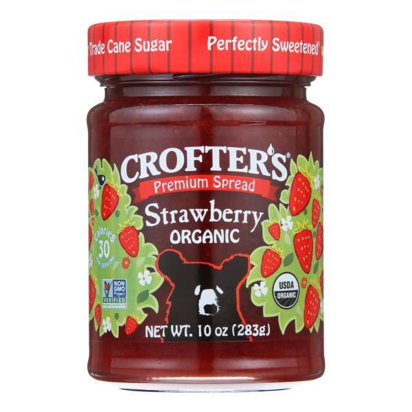 Crofters Fruit Spread - Organic - Premium - Strawberry - 10 oz - case of 6 %count(alt)