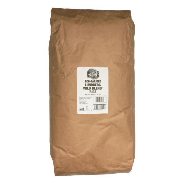 Lundberg Family Farms Wild Blend Whole Grain - Brown Rice - Case of 25 lbs %count(alt)