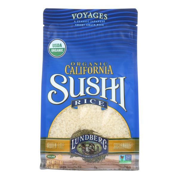 Lundberg Family Farms Organic Sushi White Rice - Case of 6 - 2 lb. %count(alt)