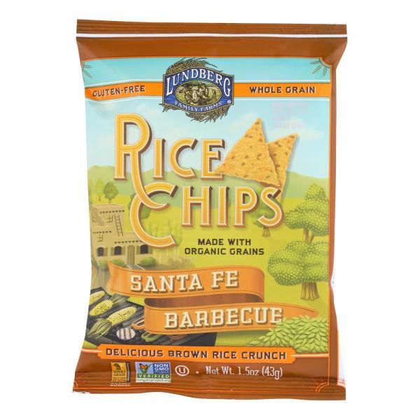Lundberg Family Farms - Rice Chips - Santa Fe Barbecue - Case of 24-1.5 OZ %count(alt)
