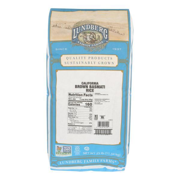 Lundberg Family Farms Brown Basmati Rice - Case of 25 lbs %count(alt)