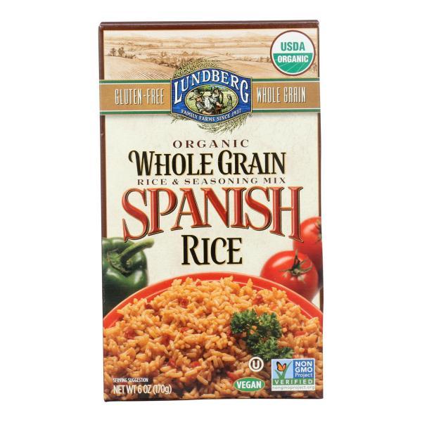 Lundberg Family Farms Organic Whole Grain Spanish Rice - Case of 6 - 6 oz. %count(alt)