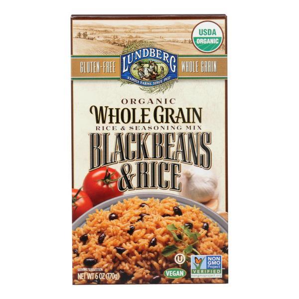 Lundberg Family Farms Organic Whole Grain - Black Beans and Rice - Case of 6 - 6 oz. %count(alt)