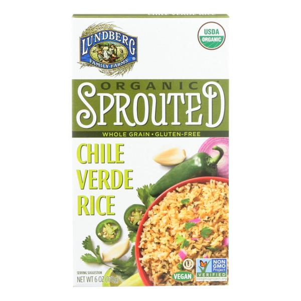 Lundberg Family Farms Organic Sprouted Rice - Chile Verde - Case of 6 - 6 oz %count(alt)