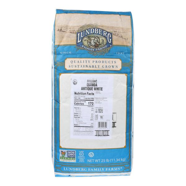 Lundberg Family Farms Quinoa - Organic - Antique White - 25 lb. %count(alt)