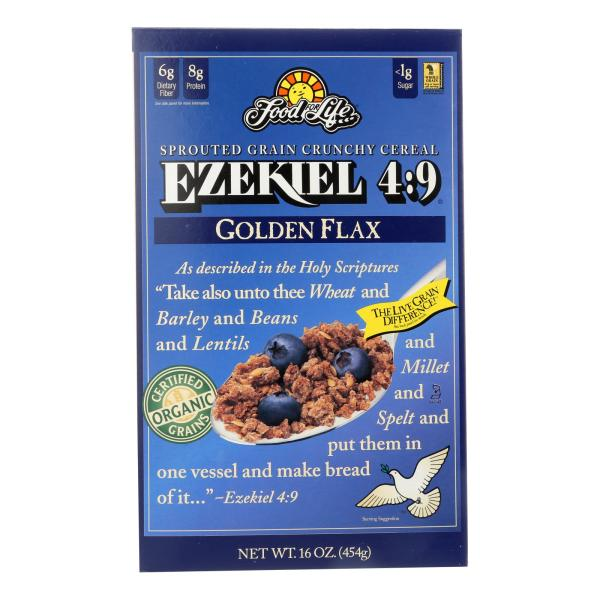 Food For Life Baking Co. Cereal - Organic - Ezekiel 4-9 - Sprouted Whole Grain - Golden Flax - 16 oz - case of 6 %count(alt)