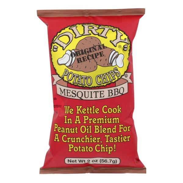 Dirty Chips - Potato Chips - Mesquite BBQ - Case of 25 - 2 oz. %count(alt)