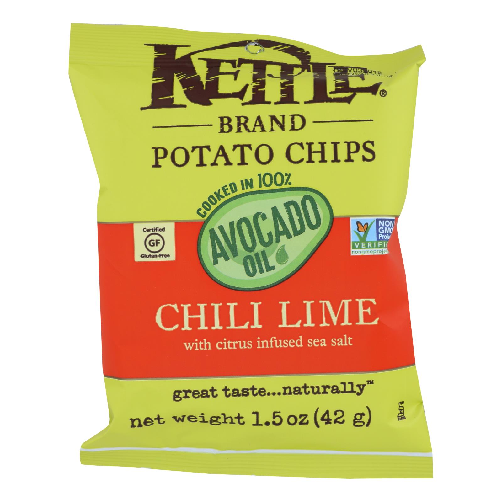Kettle Brand - Pot Chips Avo Oil Chli Lm - Case of 24 - 1.5 OZ %count(alt)