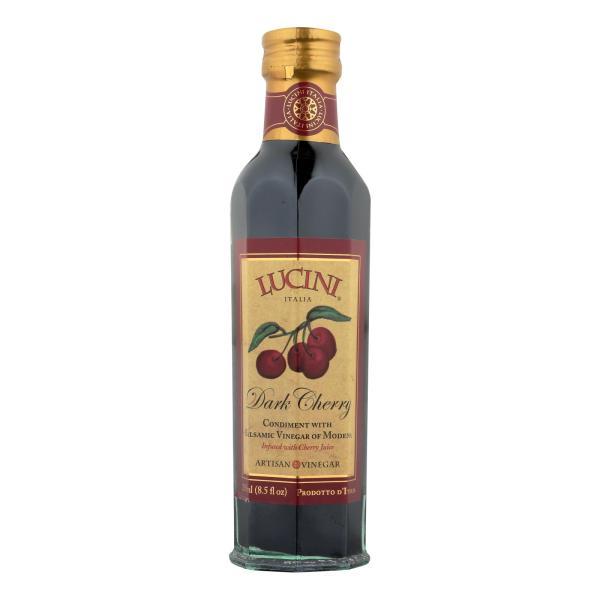 Lucini Italia Dark Cherry Balsamic Artisan Vinegar - Case of 6 - 8.5 Fl oz. %count(alt)