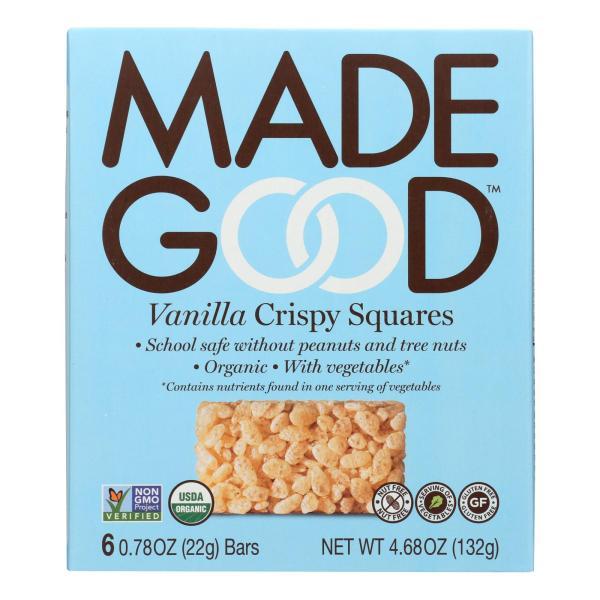 Made Good Crispy Squares - Vanilla - Case of 6 - 4.68 oz. %count(alt)