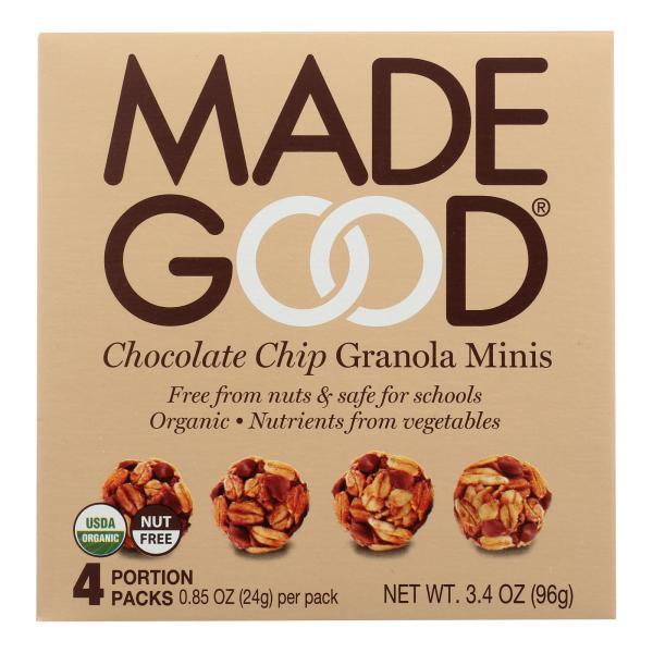Made Good Granola Minis - Chocolate Chip - Case of 6 - 3.4 oz. %count(alt)