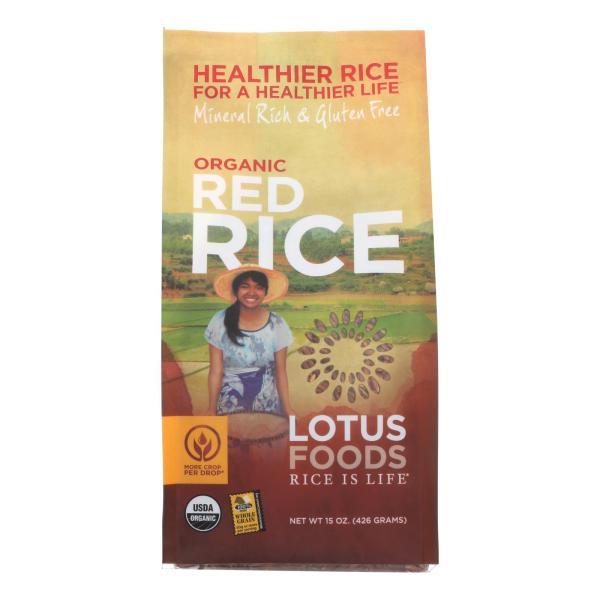 Lotus Foods Heriloom Bhutan Red Rice - Case of 6 - 15 oz. %count(alt)