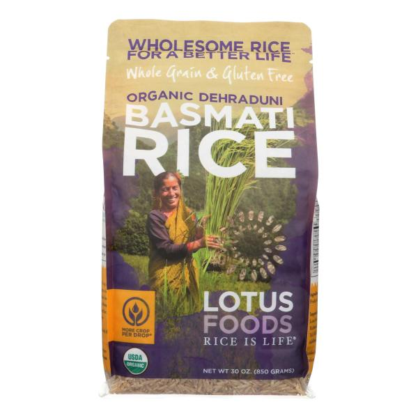 Lotus Foods Organic Rice - Brown Basmati - Case of 6 - 30 oz %count(alt)