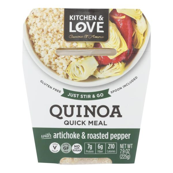 Cucina and Amore - Quinoa Meals - Artichoke and Roasted Pepper - Case of 6 - 7.9 oz. %count(alt)