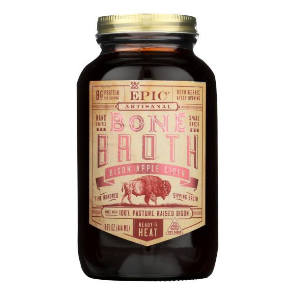 Epic Bison Apple Cider Broth - Case of 6 - 14 FZ %count(alt)
