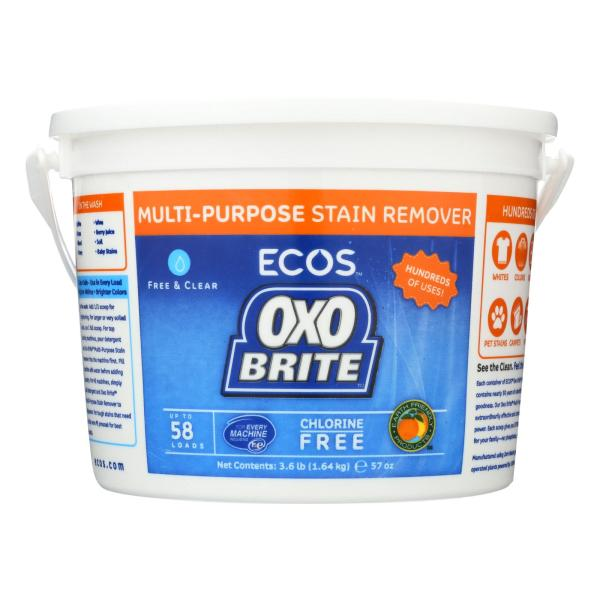 Earth Friendly Free and Clear Oxobrite Multi - Purpose Stain Remover - Case of 6 - 3.6 lb. %count(alt)