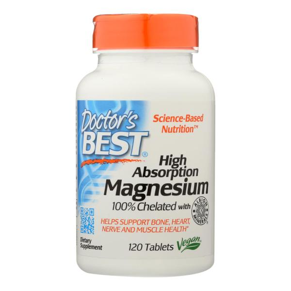 Doctor's Best - Chelated Magnesium Hi Abs - 1 Each-120 TAB %count(alt)