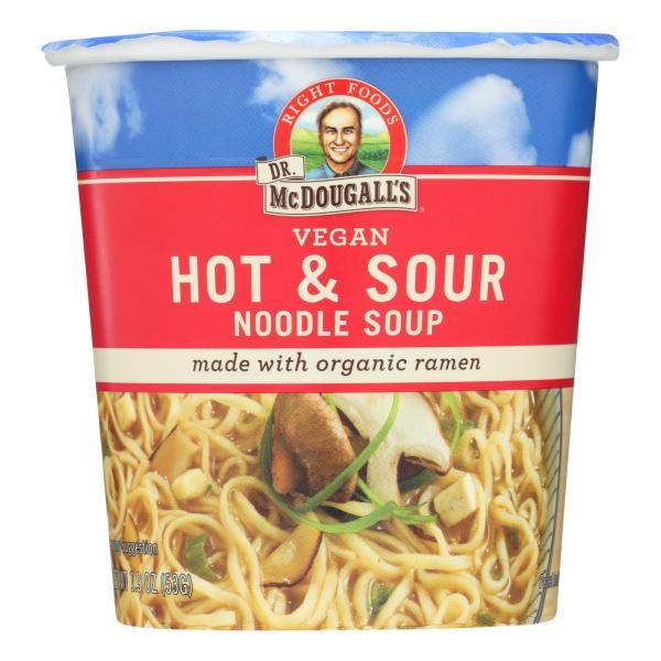 Dr. McDougall's Vegan Hot and Sour Noodle Soup Big Cup - Case of 6 - 1.9 oz. %count(alt)