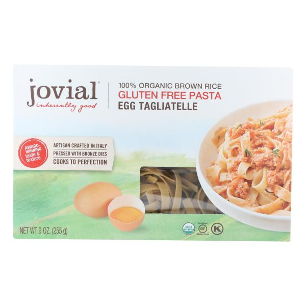 Jovial - Pasta - Organic - Brown Rice - Traditional Egg Tagliatelle - 9 oz - case of 12 %count(alt)