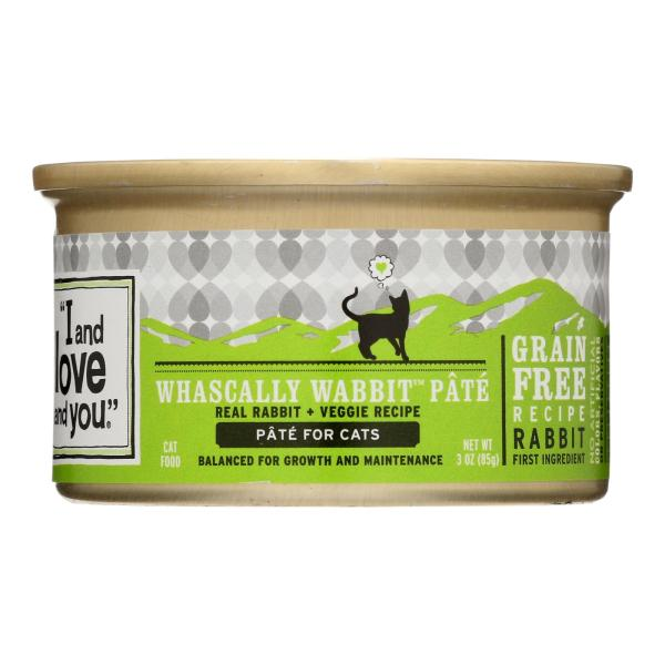 I and Love and You Canned Cat Food - Wabbit Pate - Case of 24 - 3 oz %count(alt)