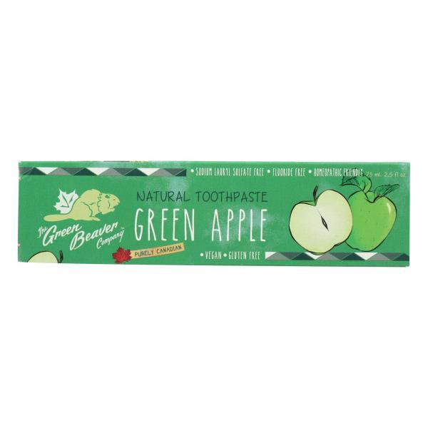 Green BeaverThe Toothpaste - Green Apple Toothpaste - Case of 1 - 2.5 fl oz. %count(alt)