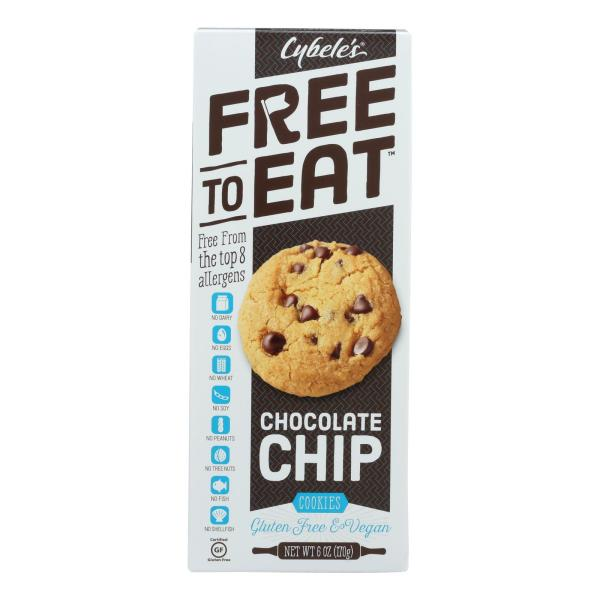 Cybel's Free To Eat Chocolate Chip Cookies - Case of 6 - 6 oz. %count(alt)