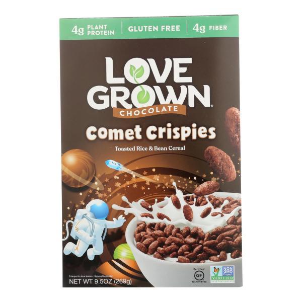 Love Grown Foods Chocolate Comet Crispies - Case of 6 - 9.5 oz. %count(alt)