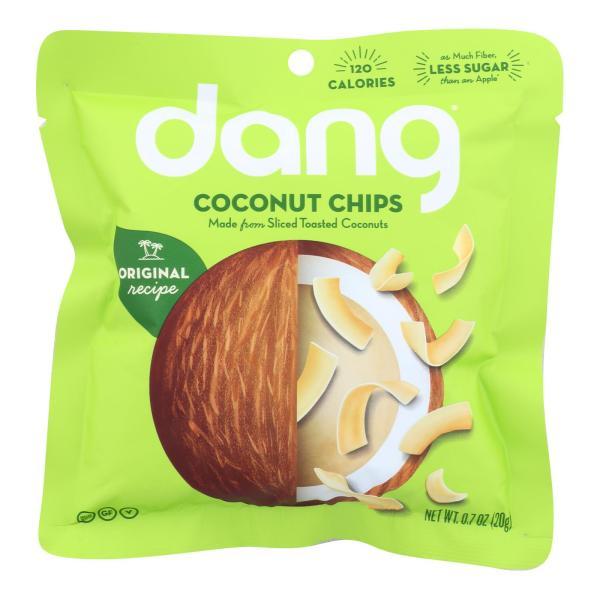 Dang - Toasted Coconut Chips - Original Recipe - Case of 24 - .7 oz. %count(alt)