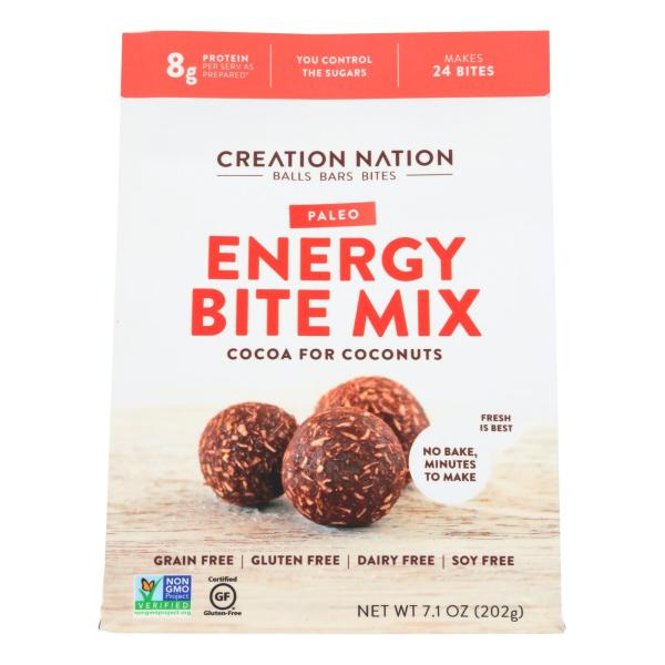 Creation Nation Cocoa For Coconuts Paleo Energy Bite Mix - Case of 6 - 7.1 OZ %count(alt)
