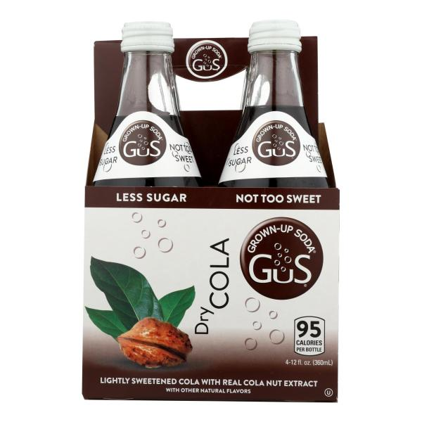 Gus Grown Up Soda - Soda Dry Cola - Case of 6 - 4/12 FZ %count(alt)