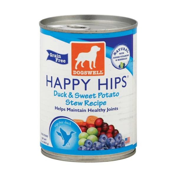 Dogs well Happy Hips Duck and Sweet Potato Stew Dog Food - Case of 12 - 13 oz. %count(alt)