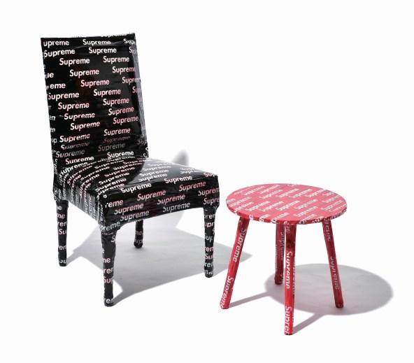JOYCE_NOCHAPIQ_SUPREME BLACK TAPE CHAIR AND SUPREME RED TAPE COFFEE TABLE_$75,000_DSC_1892
